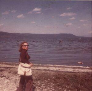 June Foray at Lake Nakuru, Kenya, Africa (July, 1973)